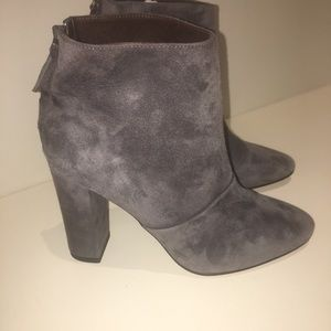 JCrew gray suede booties